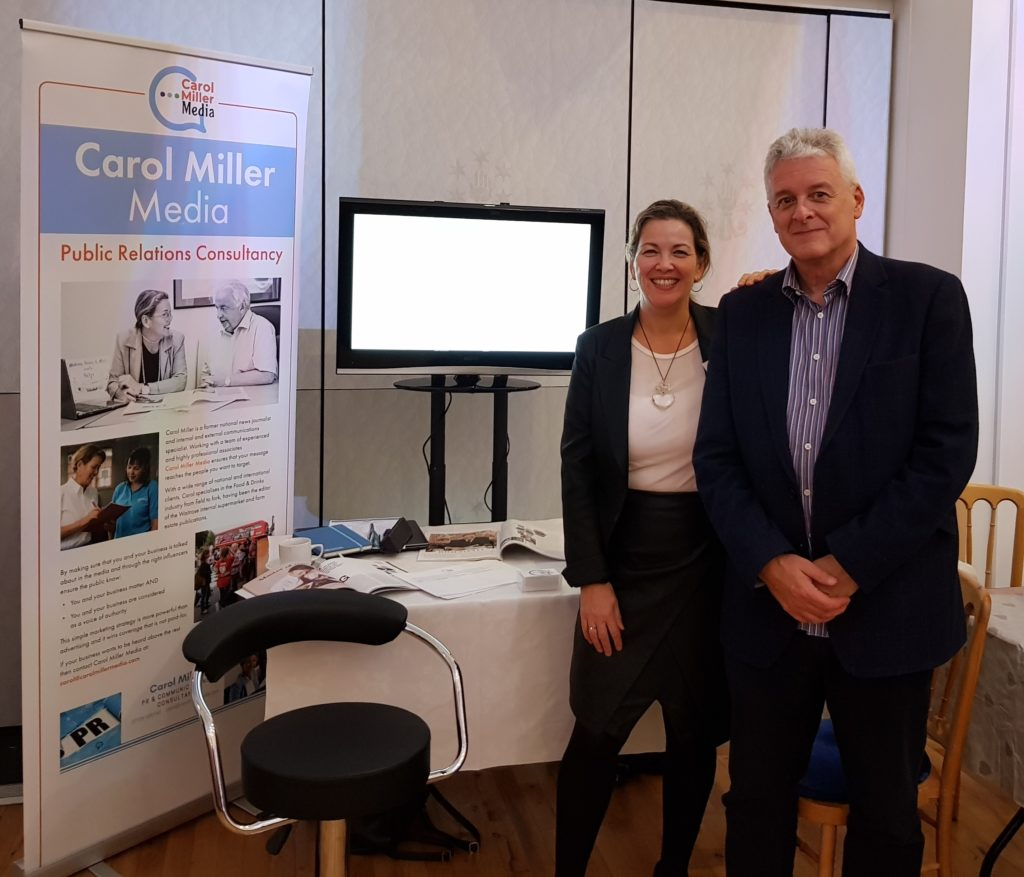 Carol Miller Media showcase with associate Mike Daly of GreatVideo