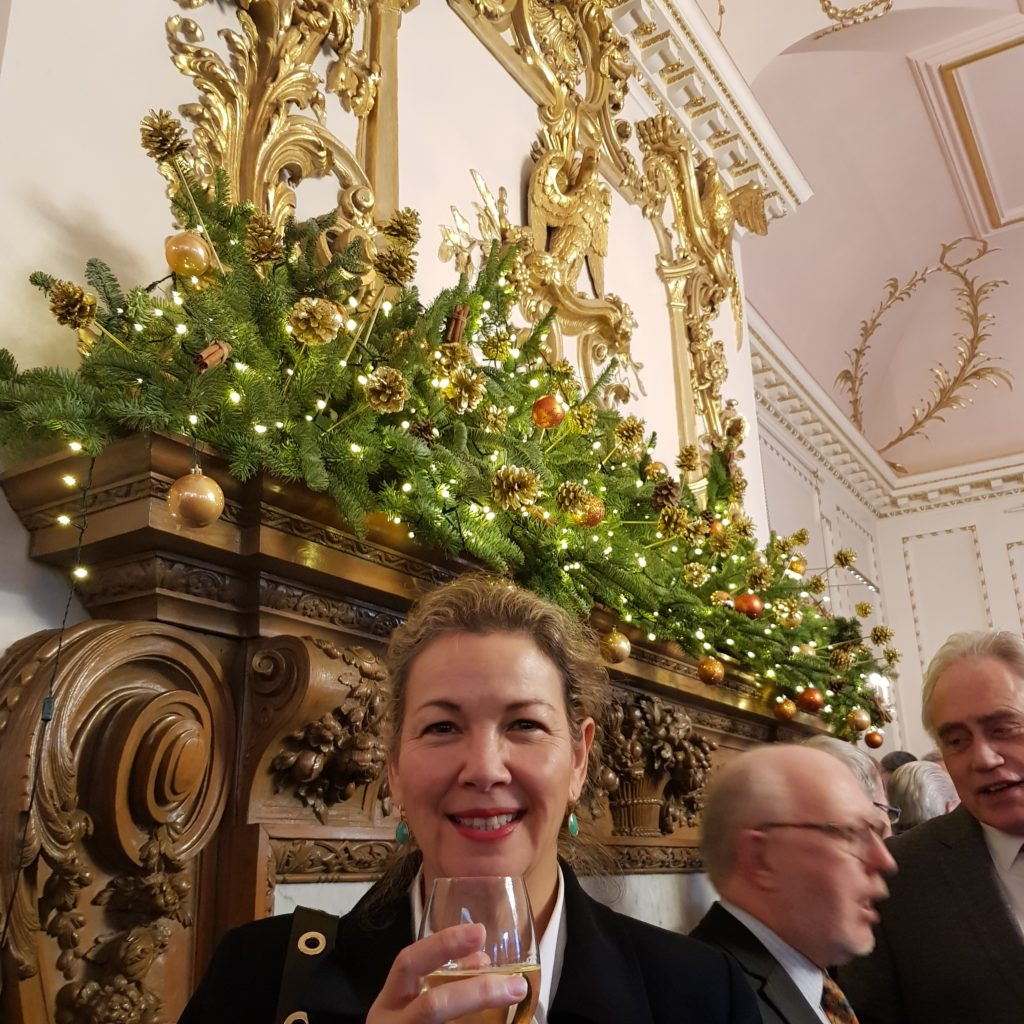 Carol at Stationers' Guild