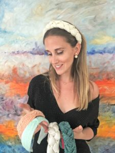High-end fahion: Alexia Genta with a range of her handmade headbands
